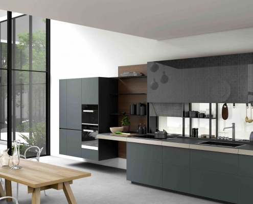 Valcucine with continuous kitchen worktop